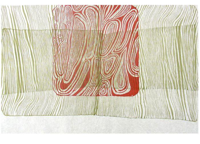 """Paisajes mentales III"" Litografía. Kozo. 69 x 44,8cm."