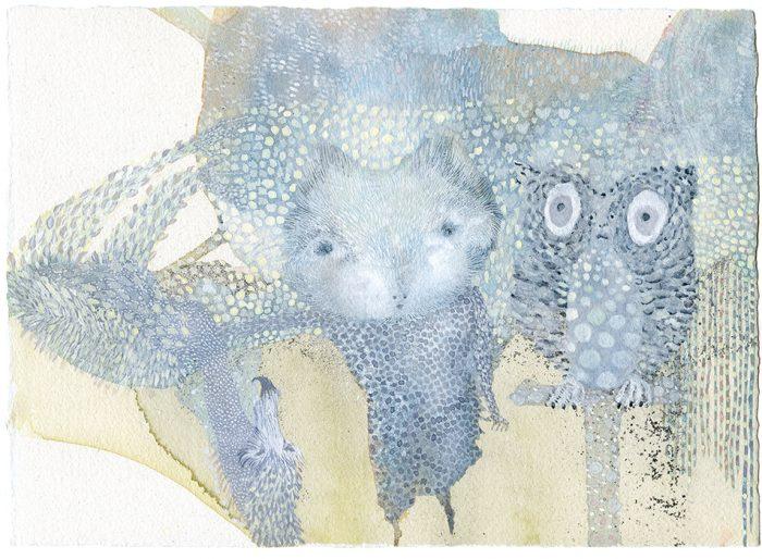 """""""Waiting to happen"""". Acuarelas y tintas. Arches aquarelle. 29 x 21,3 cm."""