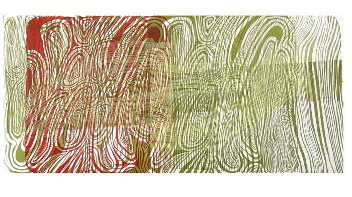 """Saturated"" Litografía. Kozo. 69 x 31,5 cm."